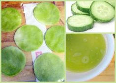 Puffy Eyes? Make These Frozen Cucumber Compresses...