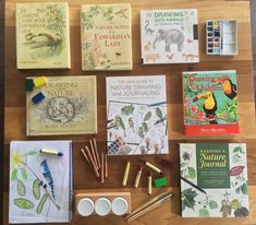 Nature Journal Art was such a struggle for me and it's been the work of years to see improvement. If you and your kids struggle with… Homeschool Curriculum, Homeschooling, Homeschool Books, Homeschool Kindergarten, Nature Journal, Journal Art, Nature Activities, Nature Drawing, Outdoor Learning