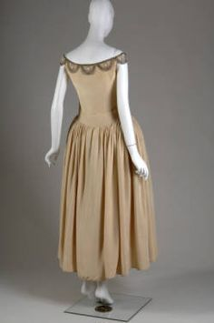 Robe de style (image 2) | House of Lanvin | Paris | 1927 | silk moiré, glass beads, pearls, metallic thread | Chicago History Museum | Object #: 1954.205a