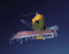 James-Webb, futur télescope spatiale, 3 fois plus puissant que Hubble.