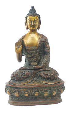Peaceful Lord Buddha Brass Statue