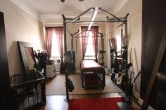 A view of the dungeon of Ms Troy Orleans of NYC: Salon d'Orleans. Well equipped for heavy bondage. www.troyorleans.com