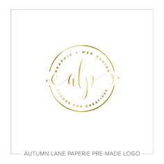 This listing is for a customizable pre-made Gold Foil Badge Type Initials Logo. Put your company's name on it today!