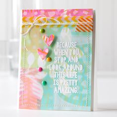 Spotlight: Stamping with Gelli Plate! Hi everyone, it's Shari here with a spotlight on stamping with the GelliArts printing plates. Shari-Carroll-Amazing-Life