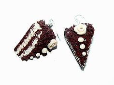 Cake with a chocolate crumb earrings tutorial for fimo or polymer clay