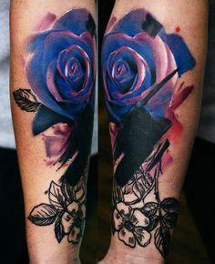 Abstract Flowers Tattoo by Timur Lysenko - http://worldtattoosgallery.com/abstract-flowers-tattoo-by-timur-lysenko-8/