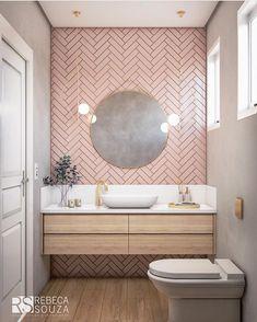 pink bathroom Rosa F - bathroomdecoration Bathroom Inspo, Bathroom Inspiration, Modern Bathroom, Small Bathroom, Master Bathroom, Feminine Bathroom, Blush Bathroom, Pink Bathroom Tiles, Pink Bathrooms
