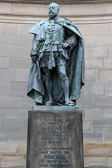 Statue of Edward VII outside the Holyrood Palace in Edinburgh
