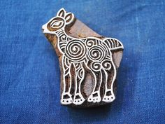 Hand Carved Indian Wood Block  Little Doe by shopofembellishments