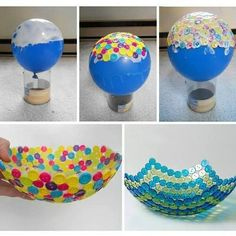 decoracion bol con botones