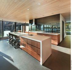 Imagen techos-de-madera-para-la-casa-cocina-moderna-laminado-madera1 del artículo Más de 50 Fotos con ideas de Techos de madera para la casa