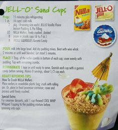 Jell-o Sand Cups