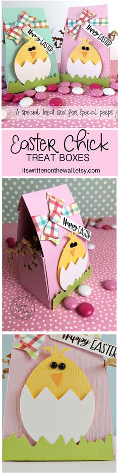 Easter comes EARLY this Year-Don't wait to get our Easter Chick Treat Boxes to hand out to family and friends, use on your Easter table or give to co-workers or Employees, Easter Chick, Easter candy, Easter baskets, Easter Egg Hunt, Easter Crafts, Kids Easter