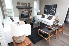 Living Area featuring flooring by Jager Homes. Engineered Hardwood Flooring, Hardwood Floors, Rainbow Falls, Farmhouse Flooring, Autumn Home, Living Area, Corner Desk, Building A House, Homes