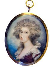 A young Lady with powdered hair