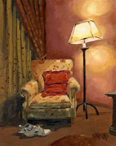 """And sit right down"" - © Nancy Parsons strange but I love it I mean I am strange for liking it not the painting."