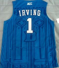 Kyrie Irving Duke Blue Devils NCAA basketball jersey.