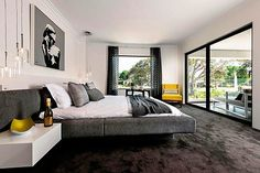 Dormitorios en tonos grises