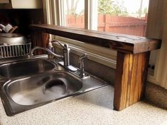 5. Pallet Wood Sink Shelf
