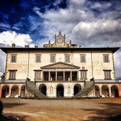 Villa Medicea, Poggio A Caiano, Tuscany Villa, Art And Architecture, Old World, Tuscany, Florence, Castles, Renaissance, Exterior, Italy