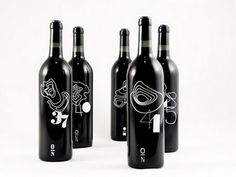 wine labels based on the longitudes of Italy and it's famous wine regions.