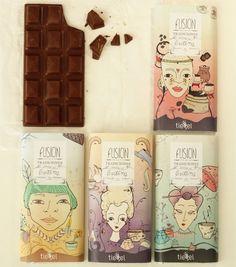 Tiegel Chocolate Bars by Denise Hermo, via Behance