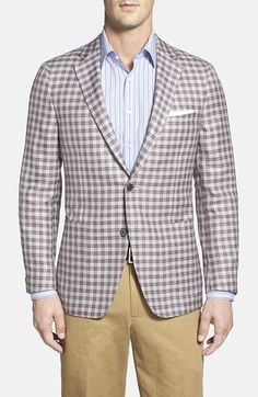 Samuelsohn+Classic+Fit+Check+Wool+Blend+Sport+Coat+available+at+#Nordstrom