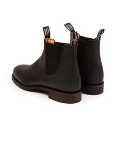 R.M. Williams Gardener Greasy Kip Leather Boot: Black – Trunk Clothiers Rock The Casbah, Hard Wear, How To Wear, Black Trunk, Goodyear Welt, Black Leather Boots, Chelsea Boots, Trunks, Take That