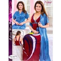 Fashionable Two Part Nighty-10057 A Night Dress Online, Salwar Kameez, Kaftan, Nightwear, Cover Up, Saree, Sexy, Womens Fashion, How To Wear