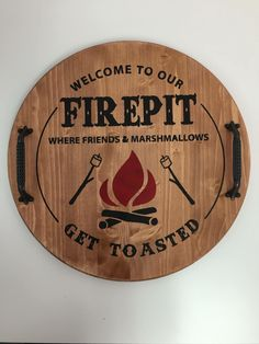 Firepit Round Wood Tray is part of Diy wood signs - Serving Tray Wood, Wood Tray, Round Wooden Tray, Board And Brush, Diy Wood Signs, Pallet Signs, Wood Circles, Diy Wood Projects, Barrel Projects