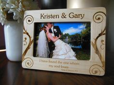 Hey, I found this really awesome Etsy listing at https://www.etsy.com/listing/191271239/personalized-wedding-picture-frame