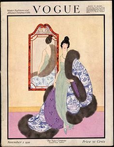 Vogue Magazine - November 1, 1918 - Complete Issue - Helen Dryden Cover Vogue