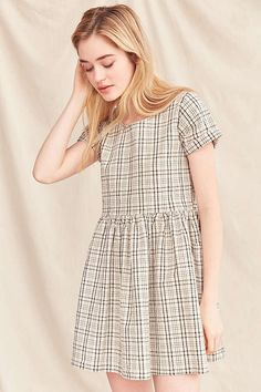 Urban Renewal Remade Yarn-Dyed Babydoll Dress    URBAN OUTFITTERS