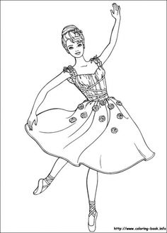 Barbie Becoming Beautiful Ballerina Coloring Page