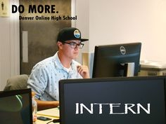 Jacob Smith is completing courses at Denver Online High School while he interns at Convercent.  See his whole story on our website:  http://wp.me/p1BVL7-1gP