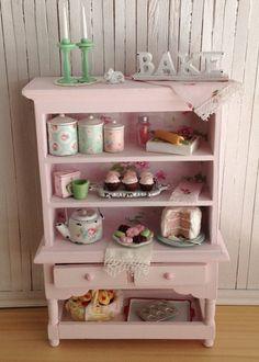 Miniature Light Pink Baking Hutch