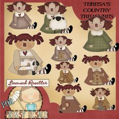 Country Annies Collection Clipart