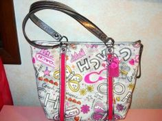 Firm! Coach Grafitti Poppy Shoulder Bag Tote - $97~~MARY-E.    Has Butterfliies!!...Right up your alley!!