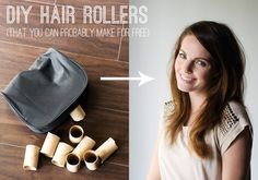 If your hair is limp and gross, try revitalizing with DIY hair rollers. Apply heat with a blow dryer and let set, or spritz with dry shampoo. | 16 Hacks For Epically Bad Hair Days