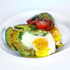 the chew | Recipe  | Michael Symon's Eggs In Avocado With Tomato And Basil