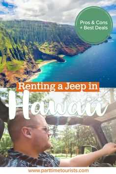 Renting a jeep in Hawaii. pros and cons to renting a jeep in hawaii. This article includes Hawaii jeep tours, Hawaii jeep pictures, Hawaii jeep rentals, and Hawaii jeep wrangler tips and tricks! Hawaii Vacation, Hawaii Travel, Travel Usa, Visit Hawaii, Hawaii Hawaii, Island Park Idaho, Hawaii Rentals, Adventurous Things To Do, Jeep Photos