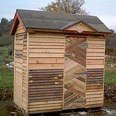 pallet shed (love the door!)