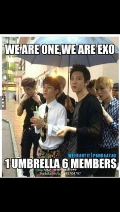 1 Umbrella, 6 Members.. The struggle is real....