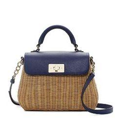 Kate Spade Delavan Terrace Little Nadine Shoulder Bag - Khaki NavyPXRU3420 - RM 890