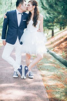 Matching sneakers and other engagement shoot inspiration // KS and Avis' Mountain Garden Nuptials at Tanarimba Janda Baik