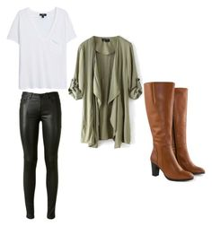 """Iris west"" by theglassesgurl16 ❤ liked on Polyvore featuring moda, MANGO, Yves Saint Laurent e Jilsen Quality Boots"