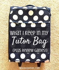 Looking for creative items to make your stick-in-the-sand tutoring come to life? Need fresh ideas for your classroom? Check out what I keep in my tutor bag!