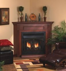 20 Cozy Corner Fireplace Ideas for Your Living Room - Wood Burning Fireplace Inserts Faux Fireplace Insert, Corner Fireplace Mantels, Fireplace Logs, Fireplace Tv Stand, Fireplace Inserts, Fireplace Design, Fireplace Ideas, Gas Fireplaces, Electric Fireplaces