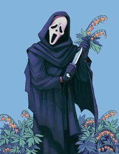 Slasher Movies, Horror Movie Characters, Horror Movies, Horror Villains, Michael Myers, Freddy Krueger, Ghostface Scream, Scream Movie, Horror Artwork