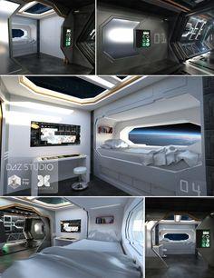 Spaceship Crew Room